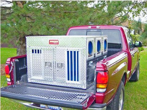 Owens Striker Aluminum Double Dog Box Small - Bear/Cat Hunting without Storage 55061, Aluminum