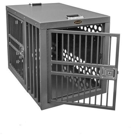 Zinger Deluxe Double Door Dog Crate Front/Side Entry Centered, Zinger - DogkennelsUSA.com