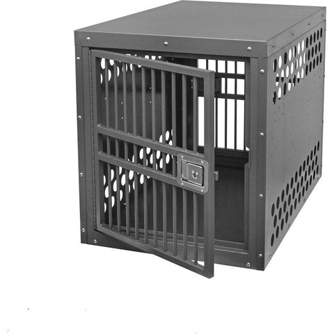Zinger Deluxe Aluminum Dog Crate Double Door Front/Back Entry, Zinger - DogkennelsUSA.com