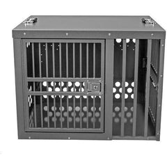 Zinger Winger Deluxe Double Door Dog Crate Front/Side Entry Centered
