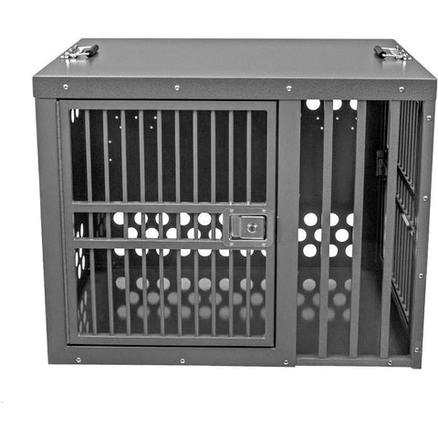 Zinger Deluxe Double Door Dog Crate Front/Side Entry Offset, Zinger - DogkennelsUSA.com