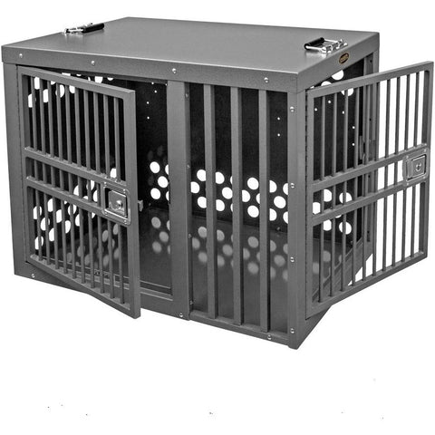 Zinger Heavy Duty Double Door Dog Crate - Front/Side Entry (Offset), Zinger - DogkennelsUSA.com