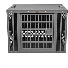 Zinger Deluxe Aluminum Dog Crate  Side Entry Centered, Zinger - DogkennelsUSA.com