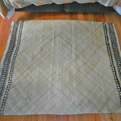Completed Cook Islands floor mat, woven from dried pandanus leaves