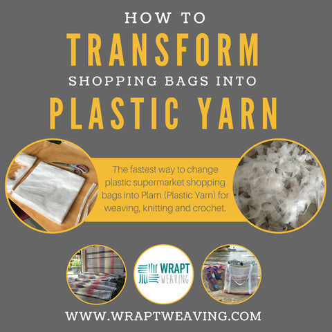 Tutorial on how to turn shopping bags into plastic yarn