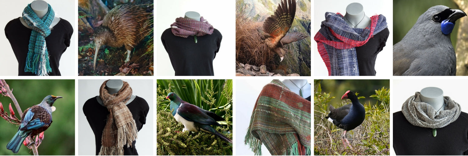 Wrapt in New Zealand Scarves and Shawls inspired by kiwi birds