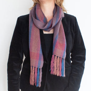 Plum Diamond Alpaca Scarf