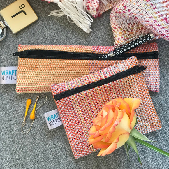 Orange Coin Purse or Small Pouch