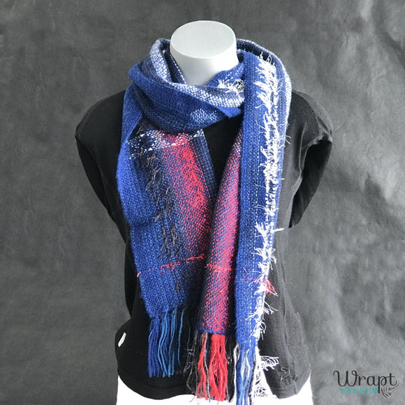 Pukeko Scarf crafted by Wrapt in New Zealand