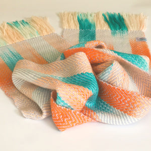 Sunrise Watercolour Scarf in Alpaca