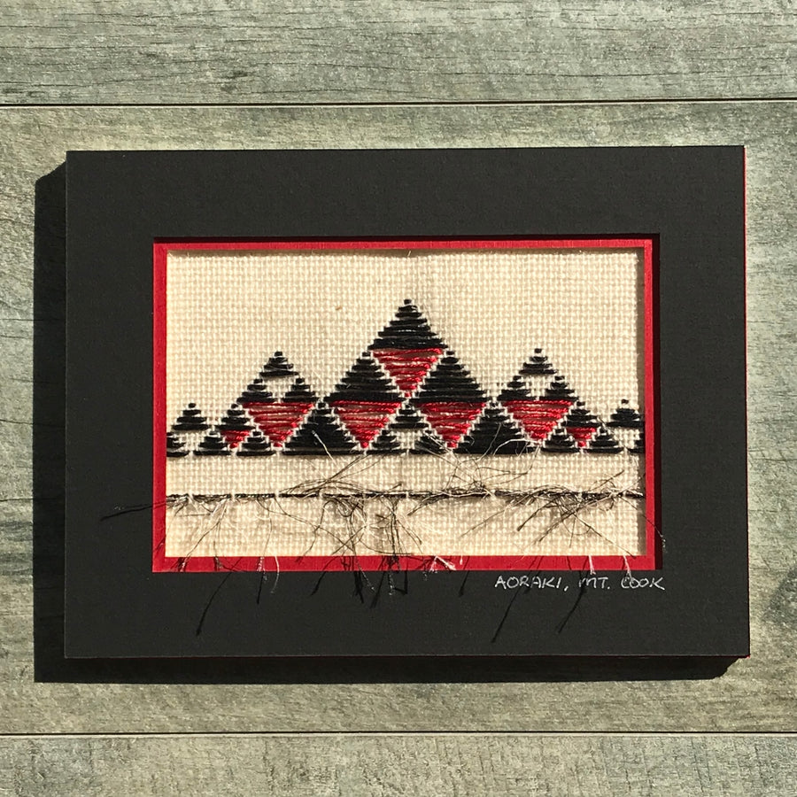 Taniko New Zealand Landscape Needlework Aoraki Mt Cook