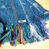 Fringe detail on a Tui wrap handwoven from kiwi yarns by Wrapt in New Zealand as an ideal VIP gift