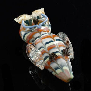 Owl Double Bowls Hand Pipe - Ghost Smoke