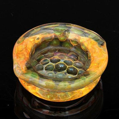 Gold & Silver fumed color changing dish - Ghost Smoke