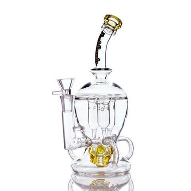 SESH SUPPLY OPHIC TRIPLE INTERNAL RECYCLER WATER PIPE - Ghost Smoke
