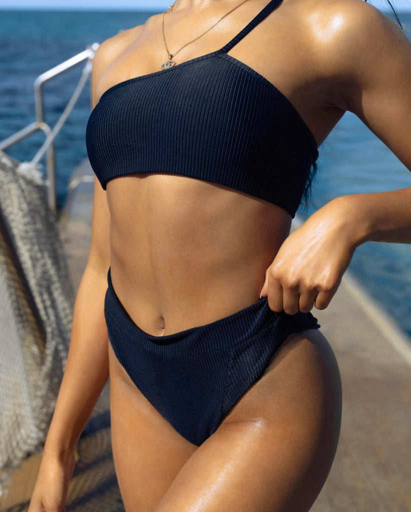 MAYA TOP- BLACK - Tshala Swim.