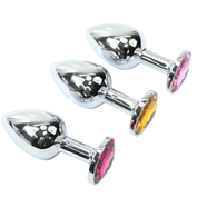 Random Color Jewel Chromed Stainless steel plug