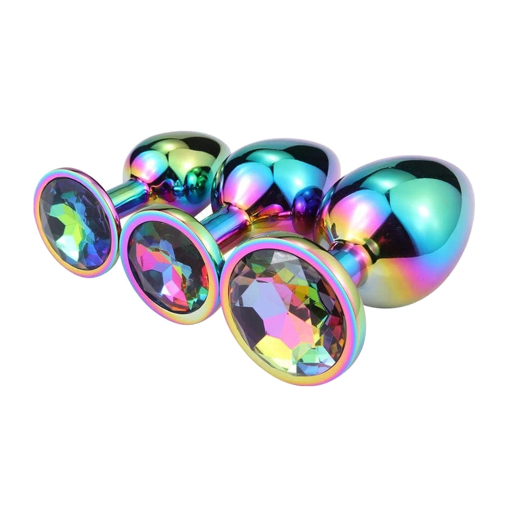 Rainbow Princess Butt Plug 3-Piece Set