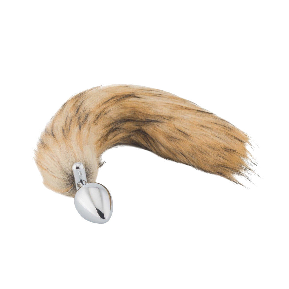 "18"" Screwed Brown Fox Tail Butt Plug"