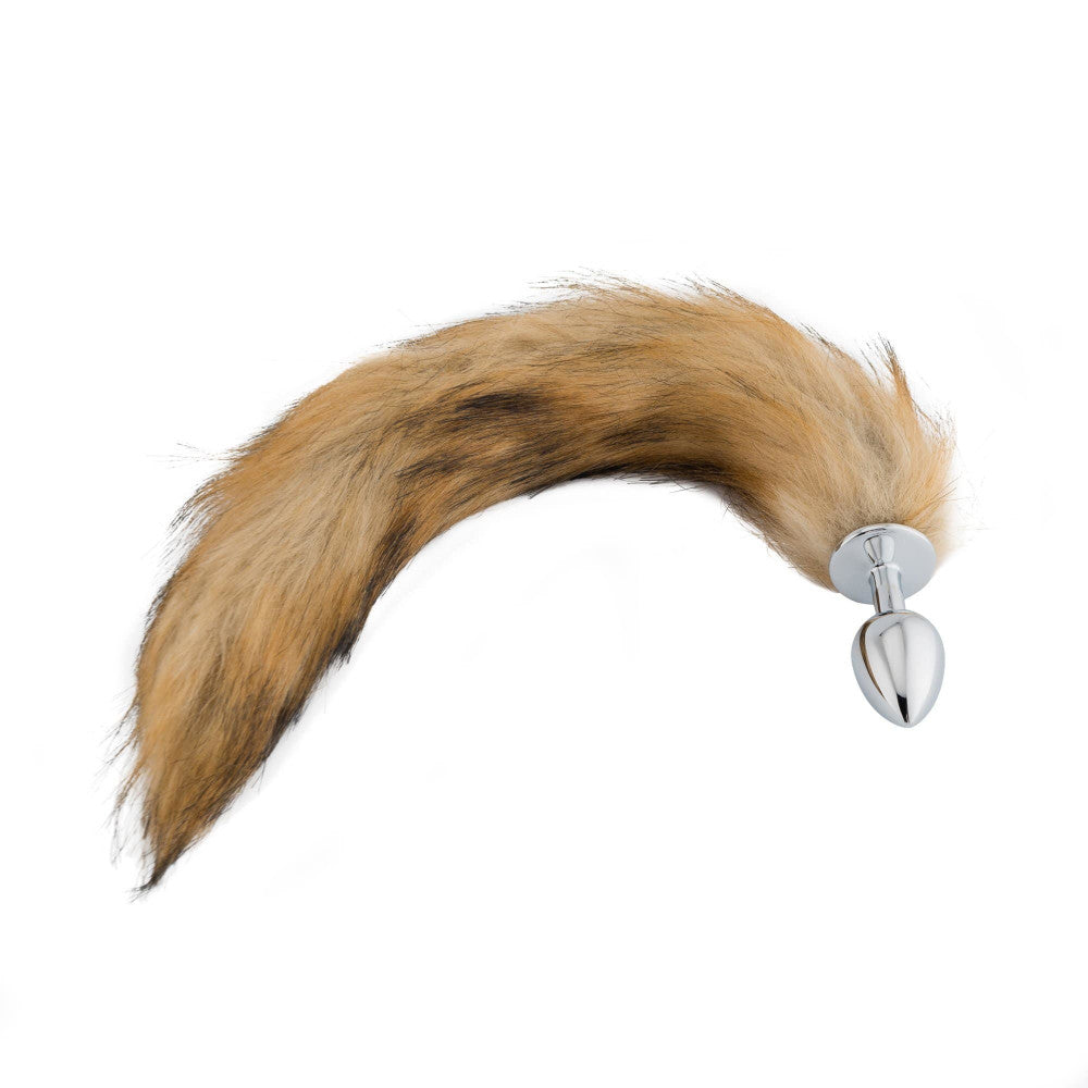 "18"" Fox Tail Metal Butt Plug"