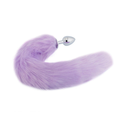 "18"" Purple Fluffy Fox Tail Plug"