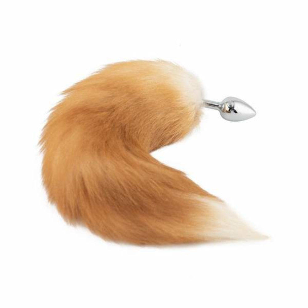 Fox Tail Plug, Light Brown 17""