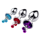 Jeweled Bell Princess Butt Plug 3-Piece Set