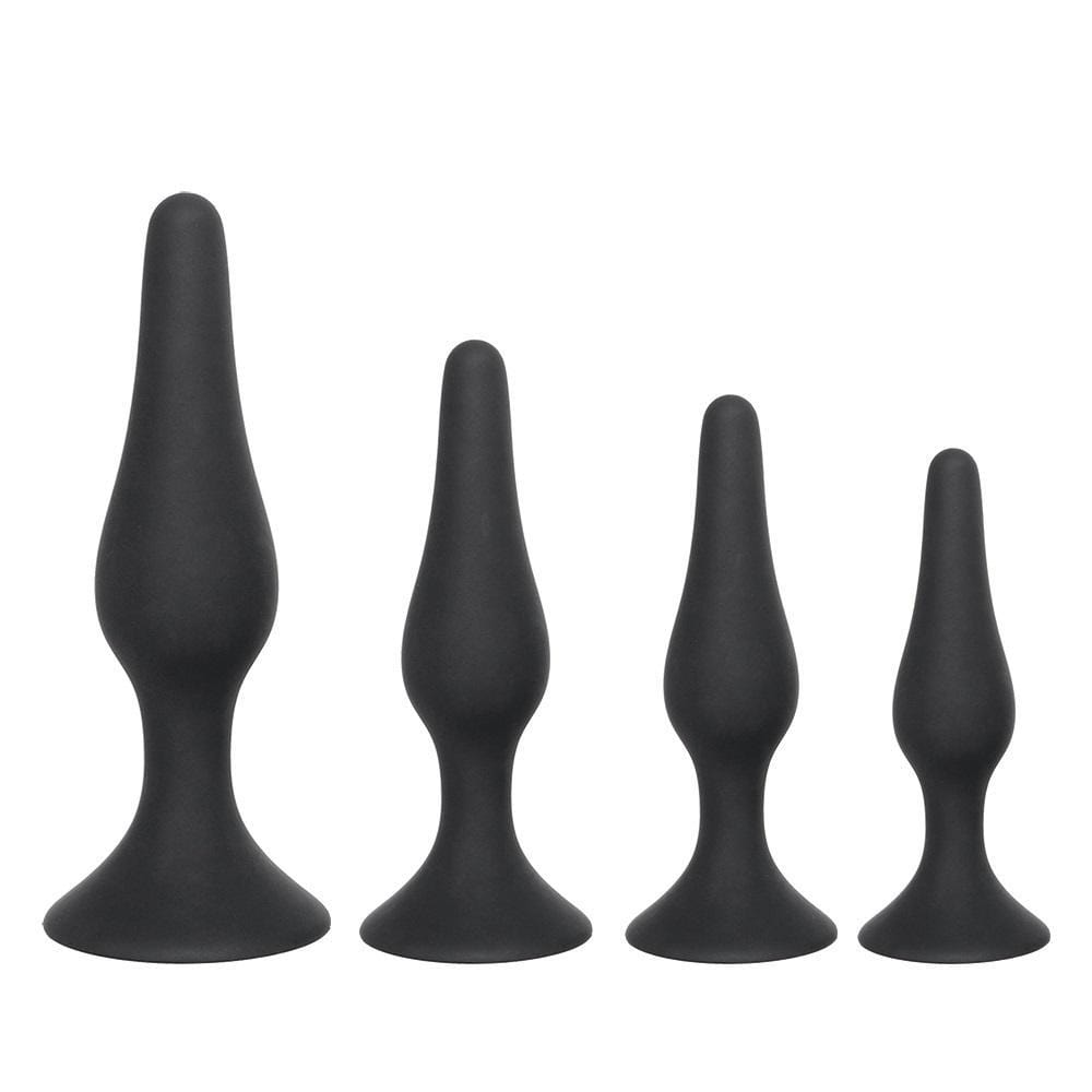 4 Sizes Available Black Silicone Butt Plug