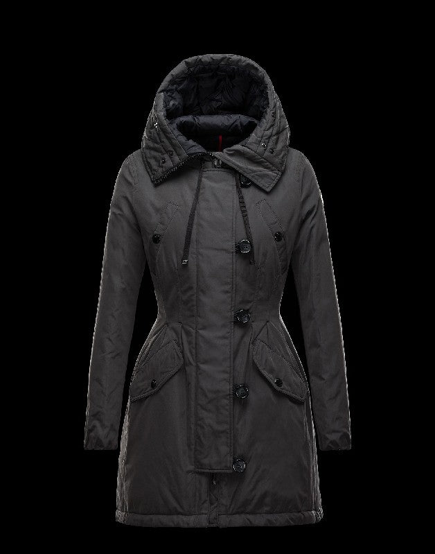 41c073ae1 Moncler ARRIOUS Turtleneck Steel grey Parka Polyester/Cotton/Racoon Womens  41463417ME