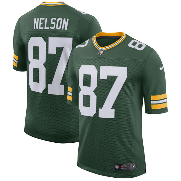 best cheap 348e0 5d373 Men's Green Bay Packers Jordy Nelson Nike Green Classic Limited Player  Jersey