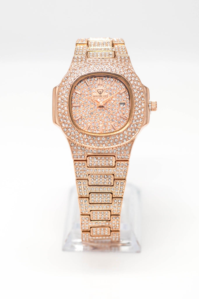 18K GP 42mm GSG Watch Big Face Rose Gold GSG