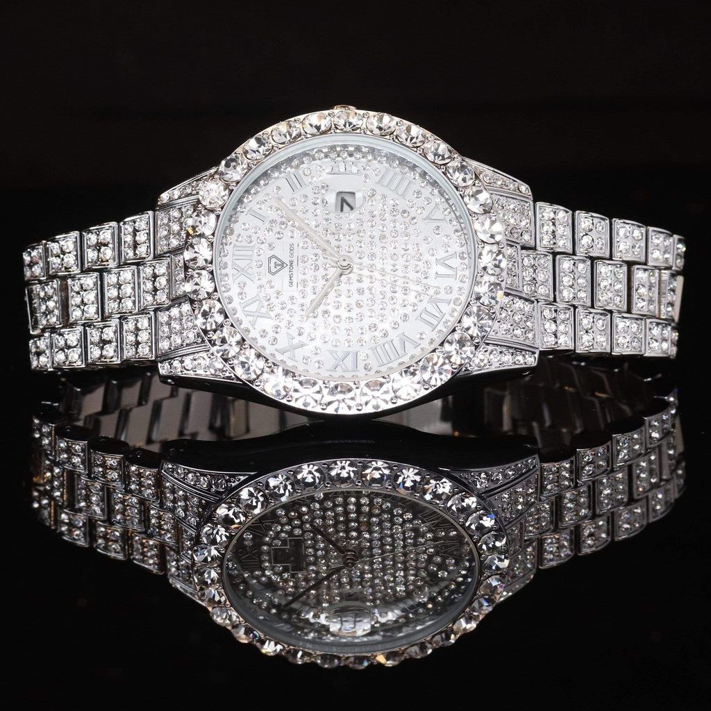 Diamond Watch Bust Down CZ V5 GSG