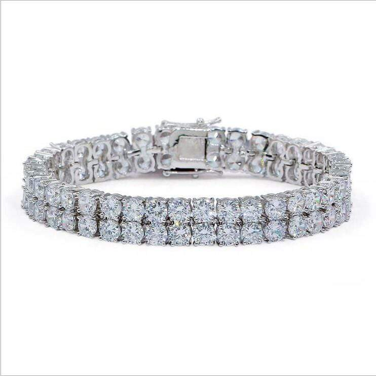 18K GP 2-Row  CZ Tennis Bracelet GSG