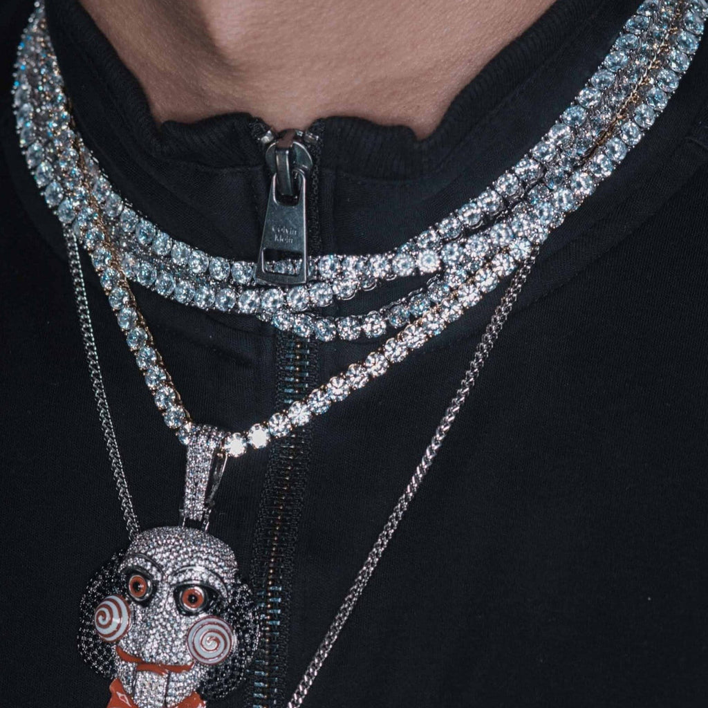 18k GP Diamond Tennis Chain GSG