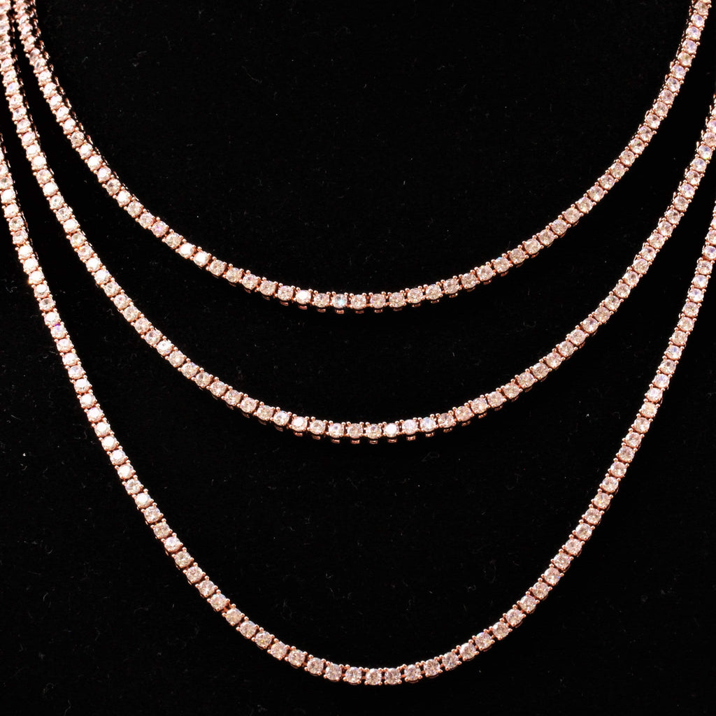 18k 3MM ROSE GOLD Tennis Chain GSG