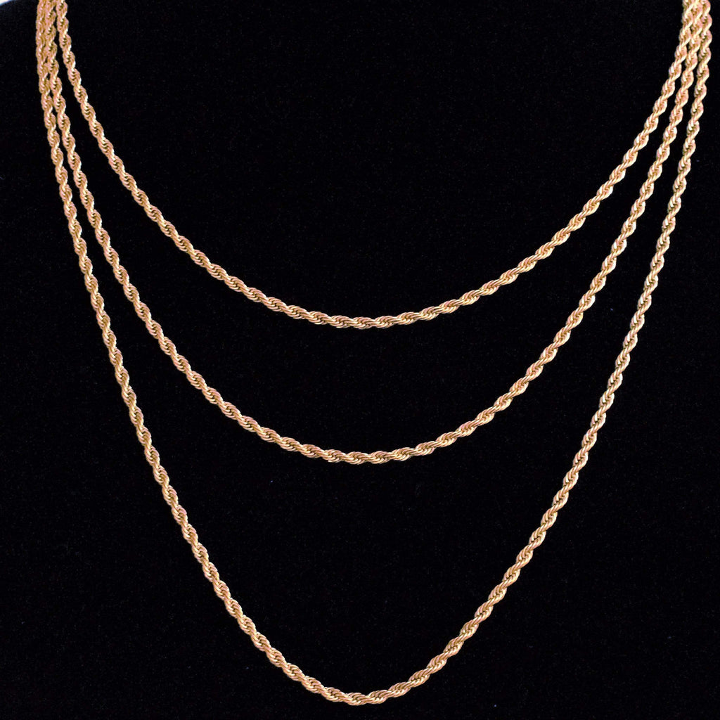3MM GSG Yellow Gold Rope Chain