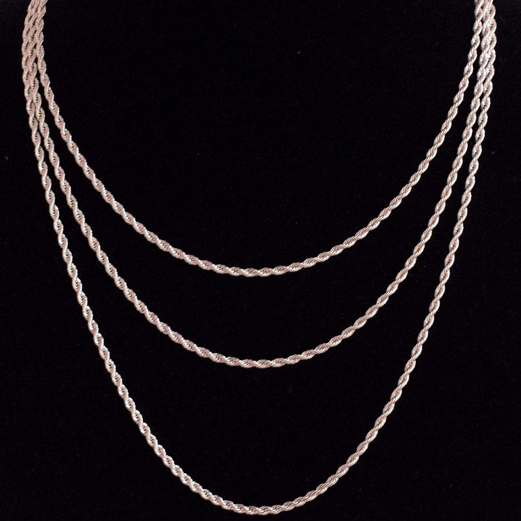 3MM GSG Rope Chain White Gold