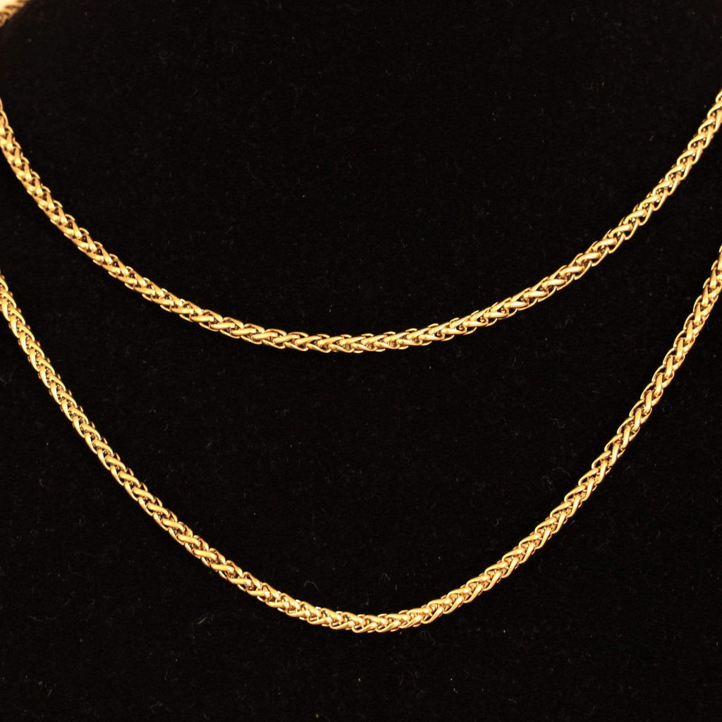 18k 3MM Box Chain GSG