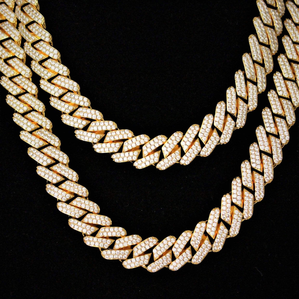 19MM Cuban Link Yellow Gold Chain Big Clasp Y-GEM