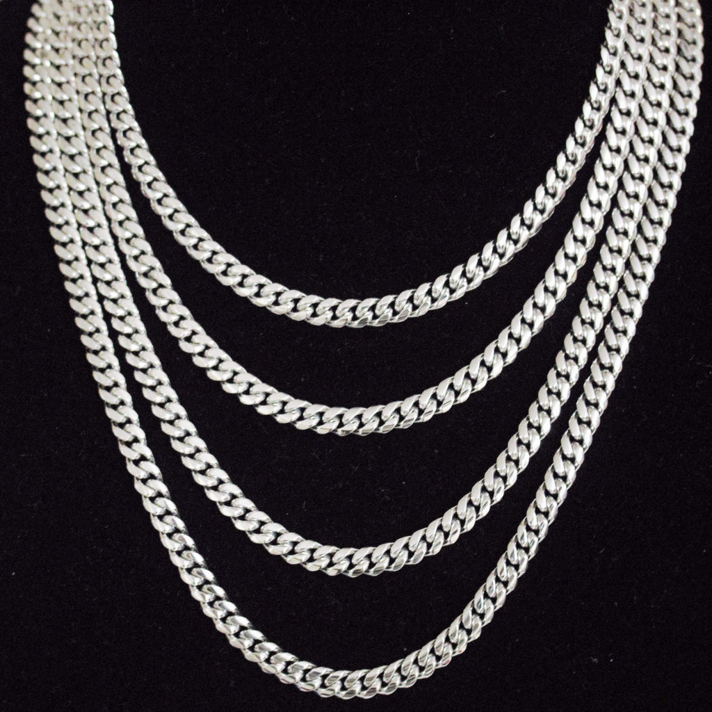 8mm Miami Cuban Link White Gold GSG