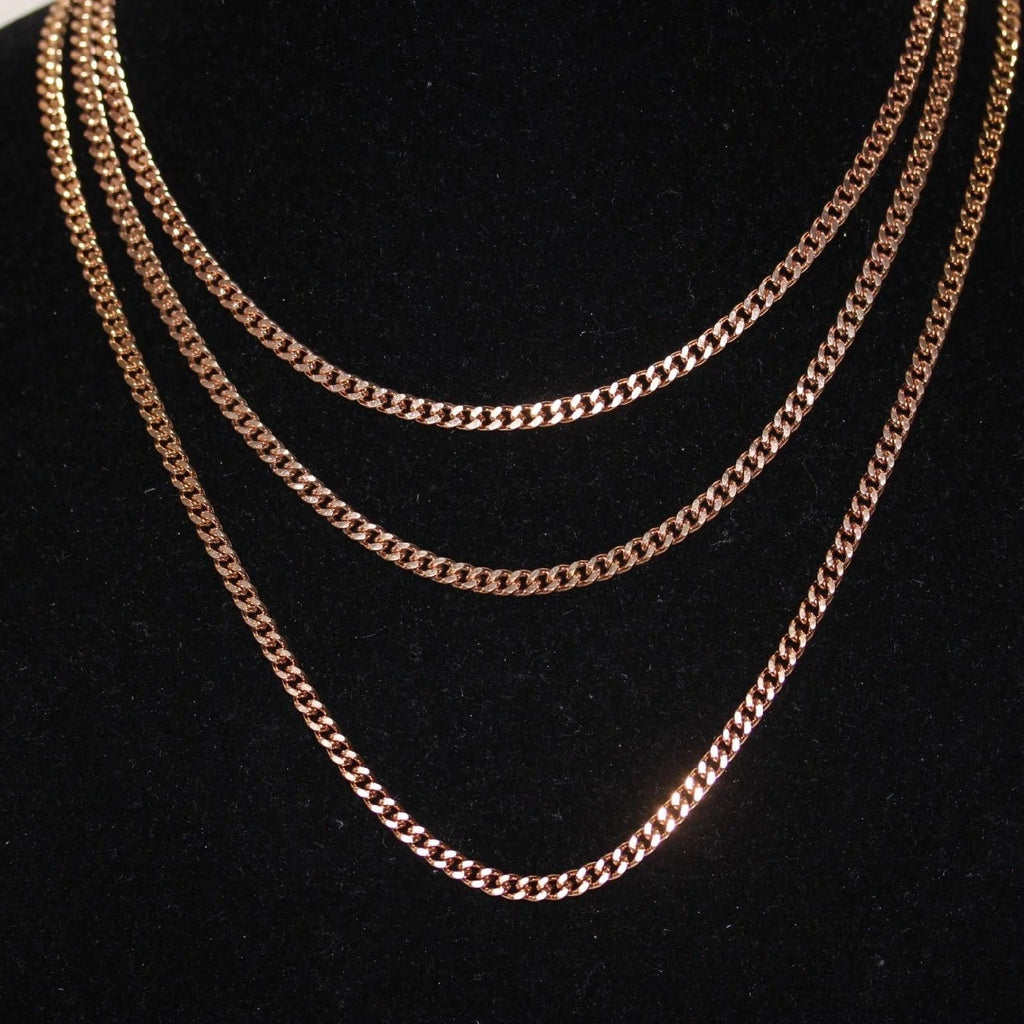 3mm Rose Gold Cuban Link Chain GSG