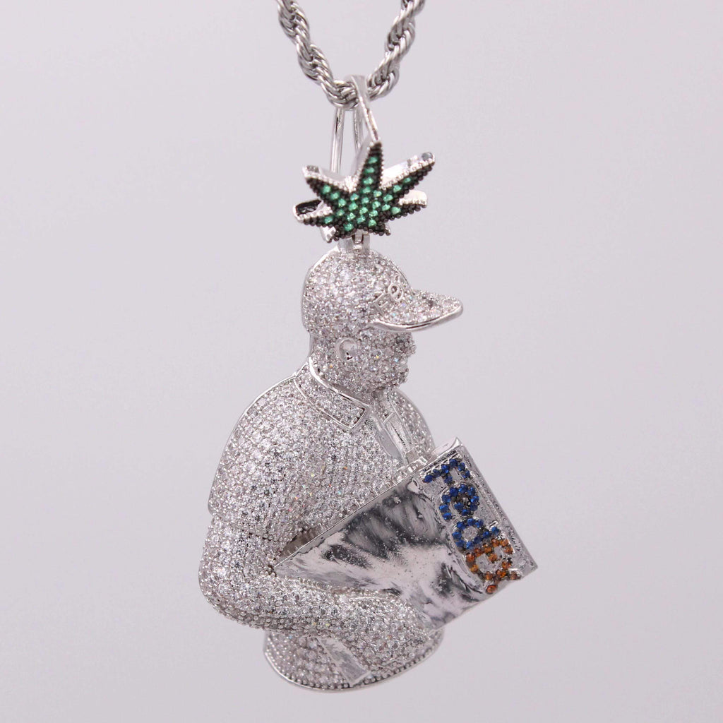 Fedex Delivery Man Cz Diamond Necklace GSG