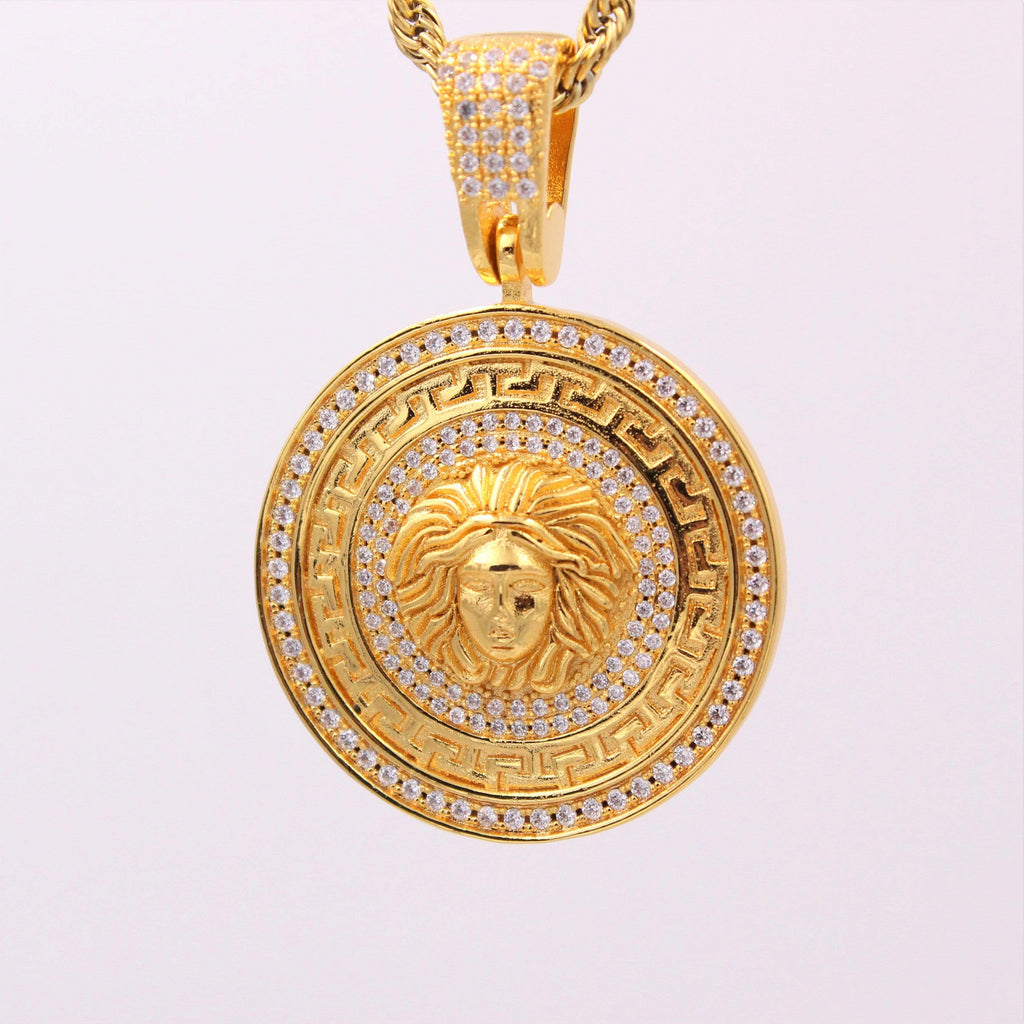 Medusa Head Cz Diamond Pendant GSG