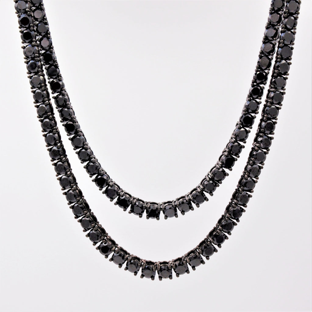 Diamond Tennis Chain 4mm Black Onyx GSG