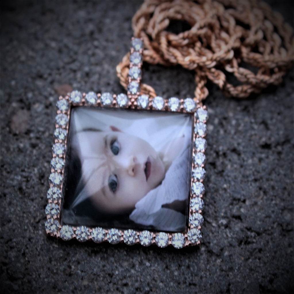 Memorial Picture Pendant 3D Square