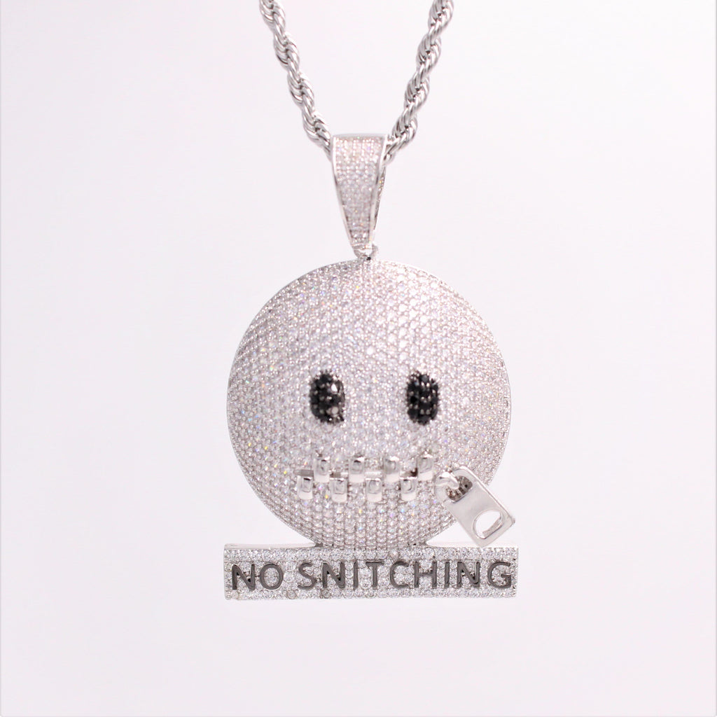 No Snitching Cz Diamond Pendant GSG