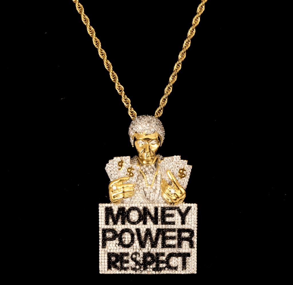 Scarface Money Power Respect Cz Diamond Pendant GSG