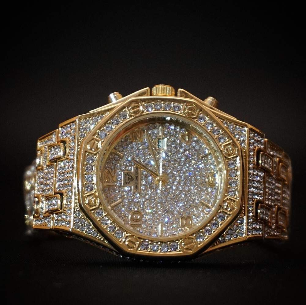 Diamond Watch Bust Down CZ V7 GSG