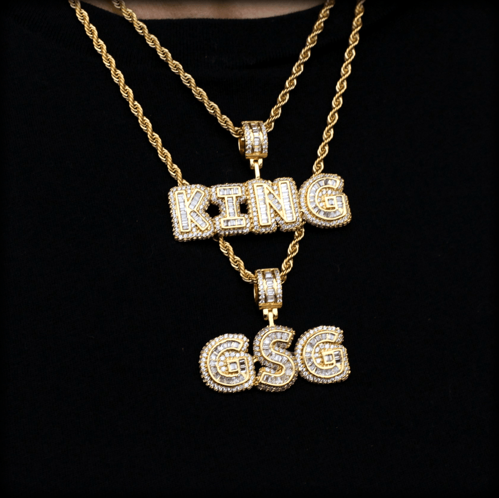 18K GP Baguette Custom Name Necklace