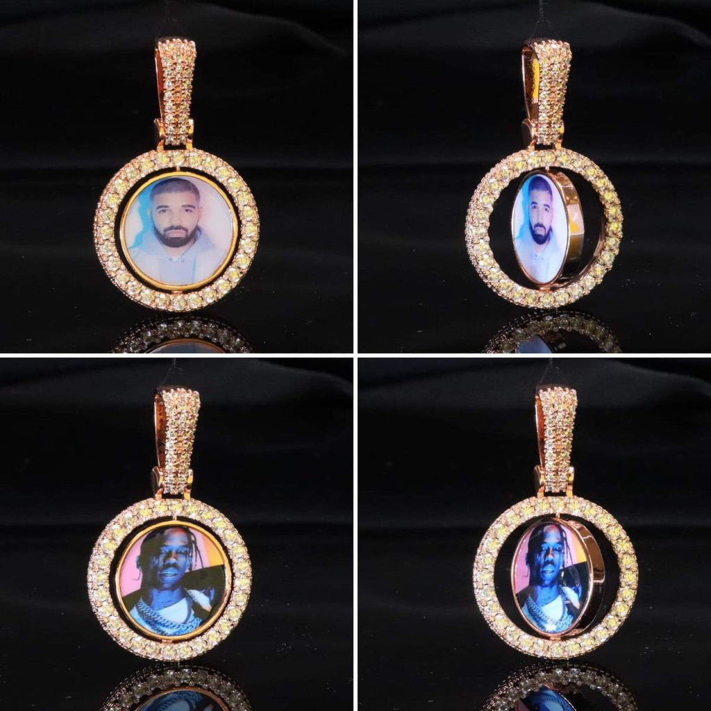 Double Sided Photo Necklace